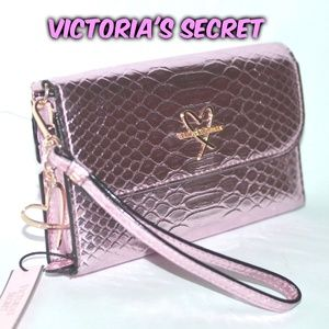 RARE⭐VS Pink Luxe Python Wallet Tech Clutch